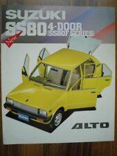 SUZUKI ALTO Kenya Brochure 1988 SS80F SS80FX 800 F FX SS80