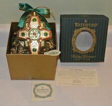 Waterford Heirloom Regal Celtic Cross Xmas Glass Ornament Number 6223/6500 Gold