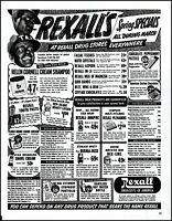 1951 Amos 'n Andy Rexall Drug Stores Sale Racist vintage photo print ad L35