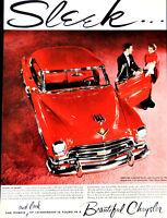 Vtg 1954 Chrysler New Yorker DeLuxe Newport auto car advertisement print ad art