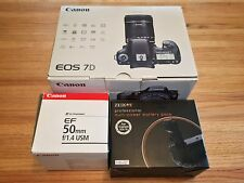 Canon EOS 7D 18MP Digital SLR Camera w/ 50mm f/1.4 USM Extra Battery Plus More