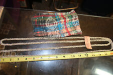 """w/ Multicolor Plad Pouch Jsh 64""""+ Silverplated Copper Necklace from Guatemala"""