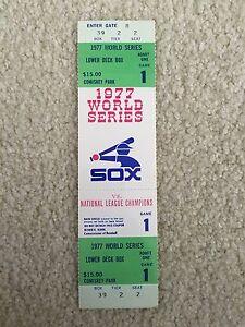1977 CHICAGO WHITE SOX PHANTOM BASEBALL WORLD SERIES FULL TICKET STUB