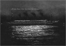 POSTER PRINT: GRAND VIEW: RMS Titanic Night Photo At Cherbourg April 10th, 1912