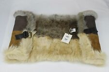 UGG LINDE CHESTNUT SHEEPSKIN LEATHER SNOOD SCARF WRAP ONE SIZE RETAIL $525