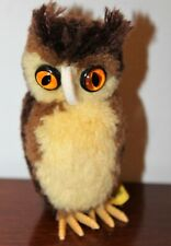 Steiff Miniature Wool Owl 7480/09 w/Tag and Button