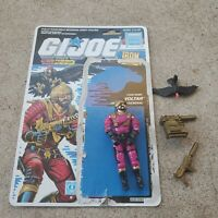 Vintage GI Joe Figure 1987 Voltar complete with full file card