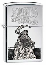 Zippo 7991, Sons of Anarchy-Reaper, High Polish Chrome Finish Lighter, Full Size