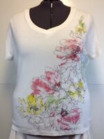 St. John's Bay V Neck Tee Top 2X Short Sleeve  Embellished Cotton