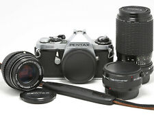 New ListingPentax Me 35mm Film Slr Camera Body + 50mm, 80-200mm, 2x Tc Lenses *Excellent*