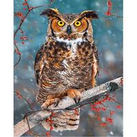 Full Drill Diamond Painting Kit Like Cross Stitch One Owl In The Tree DIY ZY123F