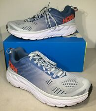Hoka One One Clifton 6 Women's Size 9.5 Blue/Red Athletic Running Shoes X4-914
