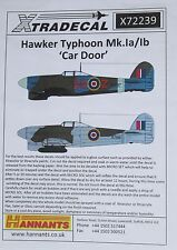 Xtradecal 1/72 X72239 Hawker Typhoon Ia/Ib 'Car Door' Decal Set