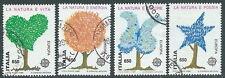 1986 ITALIA USATO EUROPA SALVAGUARDIA NATURA DA BLOCCO - D3-5