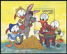 Lesotho, Sc #511, Mnh, 1985, S/S, Disney, Mark Twain, Wishing Table, Di050F