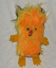 Vintage Orange Black Plush Furry Fuzzy Monster Creature Alien Felt Arm Leg Blue