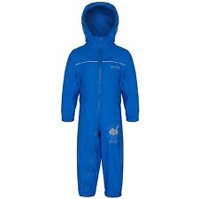 Regatta Kids Puddle IV Unisex Childrens Waterproof Overall Rkw156 48-60 Oxford Blue
