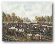 Cotton Picking Hulis Mavruk African American Art Print 7x8