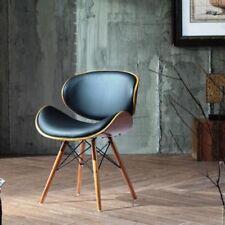 Estilo Retro Dsw imitación de cuero silla de oficina de comedor Eiffel acabado en nogal Patas De Madera