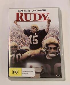 RUDY - DVD (Sean Astin, Jon Favreau, Ned Beatty) R4 - True Story (FREE POST)