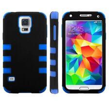 2-Colour Case Schutzhülle für Samsung i9600 Galaxy S5 blau schwarz