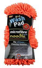 2 in 1 MICROFIBRE NOODLE & MESH WASH PAD SPONGE CAR HOME CLEAN WASHING VALETING