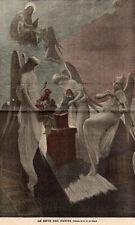REVE DES PETITS CHILDREN DREAMS ANGE ANGEL IMAGE 1900 PRINT