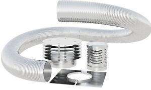 """11M 125mm 5"""" inch GAS / OIL flue chimney liner kit single skin 316 stainless"""