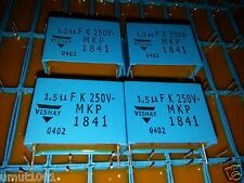 4x New Vishay Mkp1841 1.5Uf 250V 27,5mm Hi-End Tube Amp Caps For Audio !