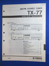 YAMAHA TX-77 TUNER SERVICE MANUAL ORIGINAL FACTORY ISSUE