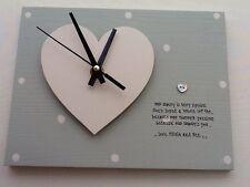 Shabby personalised Gift Chic Clock Grandma Nanny Nana Granny Nanna Present..