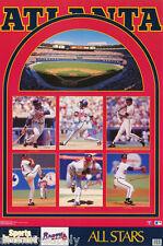 POSTER: MLB  BASEBALL:  1992 ATLANTA BRAVES MONTAGE  - FREE SHIP! #7551 RP88 N