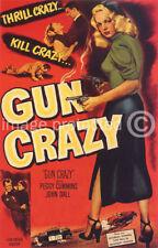 Gun Crazy Vintage Movie Poster -24x36