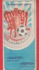 Orig.PRG   EC 2  1983/84   SCHACHTJOR DONEZK - FC PORTO  1/4 FINALE  !  TOP