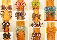 Wholesale Lot 12 PCS Handmade Beaded Dreamcatcher Earrings 12 COLORS FREE SHIP