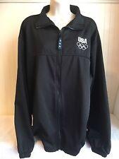 USA Olympic Athletic Women's XL Jacket Windbreaker Black Zip Up