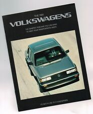 1984 Volkswagen VW Brochure / Catalog: RABBIT,JETTA,SCIROCCO,GTI,QUANTUM,VANAGON