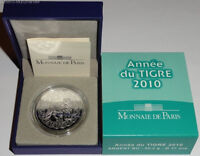 Frankreich 5 Euro Silber Lunar Tiger 2010 BU im Etui.