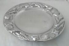 "Mariposa Brillante Large 13.75"" Round Sea Shell Serving Platter Tray Plate"
