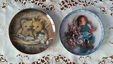 SUE WILLIS  BEDTIME STORY OR LEE BOGLE PUPPY DOG TAILS  COLLECTOR PLATE