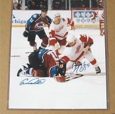Red Wings Darren McCarty- BOTH SIGNED Fight Photo 16x20