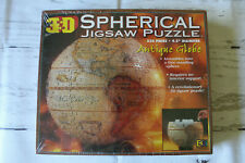 3-D Spherical Antique Globe Jigsaw Puzzle 530 Pieces 9.5 Diameter New Sealed