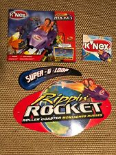 2003 KNEX Rippin Rocket Roller Coaster Replacement Parts BILLBOARD SIGNS, MANUAL