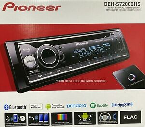 NEW Pioneer DEH-S7200BHS Single DIN, Bluetooth, CD/AM/FM/HD Radio, Car Stereo