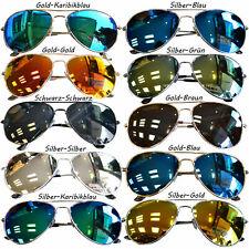 Pilotenbrille Sonnenbrille Verspiegelt FliegerbrillePornobrille Brille UV400