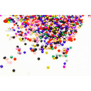 Color mixing 1000 pcs Glass small Beads No Hole 1.5-2mm Nail Art Caviar