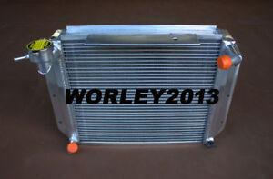 3 core crossflow aluminum radiator for MG MGA 1500 1600 1622 DE LUXE 55-62 MT