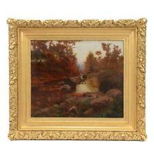 Mikhail Rundaltzov, Original 1924 Oil on Canvas, Autumnal Landscape