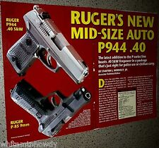 1996 RUGER's New Mid-Size Auto P944 P-Series Pistol 5-page Article