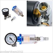 0-180PSI/12Bar Car SUV Air Pressure Regulator Gauge Spray Gun & Water Filter Kit